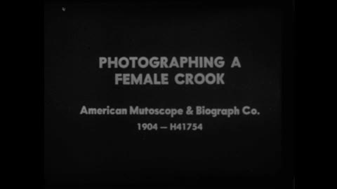 Photographing a Female Crook